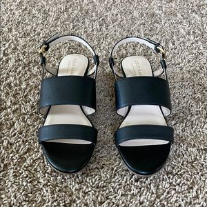 NEW Cole Haan Annabel grand leather wedge sandal